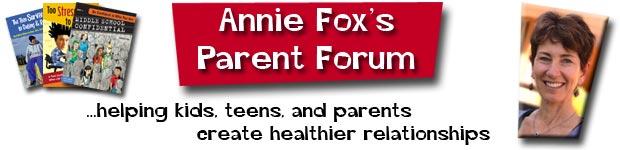 Annie Fox Parent Forum Newsletter